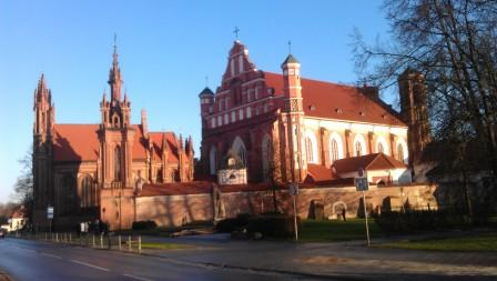 Baltic States tours Vilnius St Anne and Bernardine